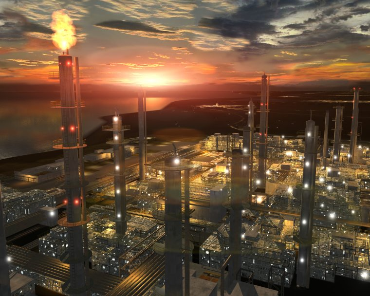 Large-Oil-Refinery-lit-up-at-night