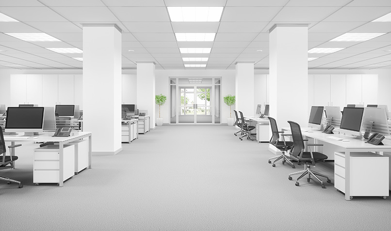 Clean-office-space-without-people